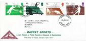 1977 Racket Sports, North Herts. Stamp Club FDC, Stevenage Herts. FDI