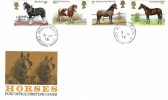 1978 Shire Horse Society, Post Office FDC, Horseheath Cambridge cds