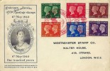 1940 Postage Stamp Centenary, Perkins Bacon (Black) FDC Stamp Centenary Red Cross Exhibition London H/S