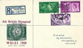 1958 Commonwealth Games, Registered Last Day Cover, Registered Empire Games Barry Hooded cds