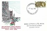 1965 700th Anniversary of Parliament, Rembrandt FDC, 6d Phosphor, London WC FDI