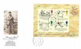 1988 Edward Lear Miniature Sheet, Fleetwood FDC, First Day of Issue Philatelic Bureau Edinburgh H/S