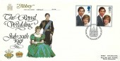 1981 Royal Wedding, Abbey FDC, First Day of Issue London EC H/S