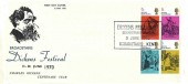 1970 Literary Anniversaries, Dickens Fellowship Broadstairs Official FDC, Dickens Fellowship Broadstairs Branch Broadstairs Kent H/S