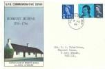 1966 4d Scotland Phosphor Regional, GPO Robert Burns FDC, Glasgow 60 cds