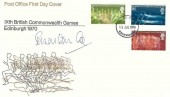 1970 commonwealth Games, Post Office FDC, Edinburgh FDI, Signed by Sebastian Coe