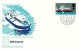 1966 British Technology, British Hovercraft Corp. FDC, 1/3d Hovercraft stamp only, Cowes Isle of Wight cds