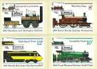 1975 Stockton & Darlington Railway, Set of Post Office PHQ Cards used on the Front, First Day of Issue Stockton on Tees H/S