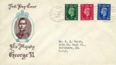 1937 King George VI ½d, 1d, 2½d Definitive Issue, Illustrated FDC, West Norwood SE27 Cancel