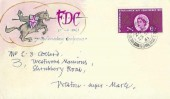 1961 Parliament, Hand Illustrated 7th Parliamentary Conference FDC, 6d stamp only, Weston Super Mare Somerset cds