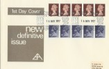 1977, 7p & 9p Horizontal Coils, B. Alan FDC, Windsor H/S. VERY RARE FDC