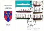 1969 British Ships, Rheindahlen Garrison Stamp Club FDC, Forces Post Office 50 cds