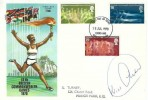 1970 Commonwealth Games, Philart FDC, Ilford and Barking FDI, signed by Kriss Akabusi MBE