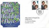 1981 Royal Wedding, Allen, Brady & Marsh Ltd ABM Special FDC, First Day of Issue London EC H/S