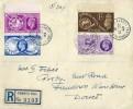 1949 Registered Universal Postal Union, Registered Plain FDC, Pennys Hill Wimborne Dorset
