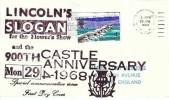 1968 British Bridges, Lindum Stamp Auctions FDC, Visit Lincoln and Lincolnshire Show Slogan