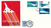 1969 Concorde, GPO FDC, London WC FDI, Double dated 31st August 1981 Flown on Board The Heritage Club Special Concorde Flight, Heathrow Airport Hounslow Middlesex London H/S