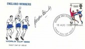 1966 England Winners, Illustrated World Cup 1966 FDC, Harrow and Wembley FDI. Signed by Gordon Banks