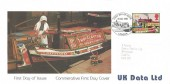 1993 Inland Waterways Data UK FDC, First Day of Issue London H/S