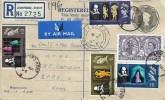 1964 Shakespeare Festival, Printed 2/- Registered Letter FDC to Kenya, Ashford Kent cds+ London BFPO 16 cds