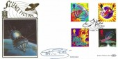 1995 Science Friction, Benham 500 Gold No.117 Official FDC, Science Friction Star Road London W14 H/S, Signed by Colin Baker the Sixth Dr Who