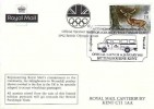 1992 Wintertime, Royal Mail Official Postcard FDC, 18p only stamp, Sittingbourne New Postbus Part of a Country Wide Commitment Sittingbourne Kent H/S