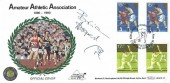 1980 Sporting Anniversaries, Benham BOCS 23 Official FDC, 15p & 17½p Gutter Pairs, 100th Anniversary Amateur Athletics Assn Crystal Palace London SE19 H/S, Signed by Brian Hooper Pole Vaulter