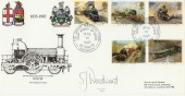 1985 Trains Great Western Town Swindon Official FDC.  Signed by S J Woodward