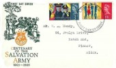 1965 Salvation Army Illustrated FDC, London EC FDI