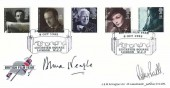 1985 British Film Year, Arlington Official FDC, British Film Year Leicester Square London WC2 H/S, Signed by Dame Anna Neagle & Robert Powell