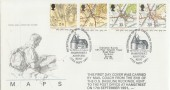 1991 Maps Royal Mail FDC Carried by Mail Coach to Hamstreet Post Office