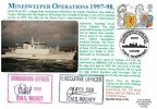 1998 The Queen's Beasts, Royal Naval Cover Group FDC. Single 26p only, 7th Anniversary of the Royal Navy's Mine Warfare Force in the Gulf War Rosyth Scotland H/S, Signed by Officers of HMS Walney