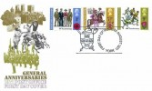 1971 General Anniversaries, Post Office FDC, First Day of Issue York H/S