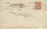 1920 2d KGV Letter Card FDC, London WC Krag cancel 31st May 1920, One day pre-release