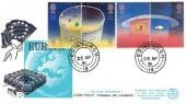 1991 Europe in Space, Europa FDC Service FDC, Edinburgh 19 cds
