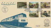 1985 Famous Trains, Covercraft Rail Enthusiast Official FDC, Scarce Limited Edition.