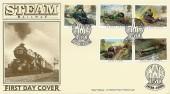 1985 Famous Trains Covercraft Steam Railway Official FDC, GWR 150 Paddington Station London W2 H/S