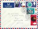 1967 British Discoveries, Air Mail Envelope FDC, Durham cds