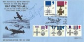 1990 Gallantry, Markton Stamps Official FDC, 50th Anniversary of the Battle of Britain RAF Coltishall Norwich H/S, Signed by Vera Lynn