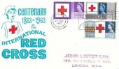 1963 Red Cross Centenary, Illustrated Nurse FDC, First Day of Issue London WC Slogan