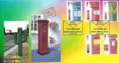 2002 Pillar to Post,Peter Payne Official FDC, Doubled with Guernsey 150 Years of the Pillar Box Miniature sheet, Post Boxes Post Office Way London SW8 H/S