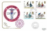 1978 Cycling Centenary, Cotswold FDC, Godalming Surrey cds, + Cyclists' Touring National Office Godalming Surrey Cachet