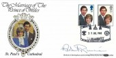 1981 Royal Wedding, Benham SP6 FDC, Royal Wedding St. Paul's London EC4 H/S, Signed by The Archbishop of Canterbury Robert Runcie