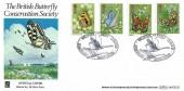 1981 Butterflies, Benham BOCS(2)3 Official FDC, Wildfowl Trust Slimbridge Gloucester H/S