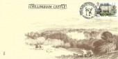 1984 British Cattle, Chillingham Castle FDC, 20½p Chillingham Wild Bull stamp only, Home of the Chillingham Wild Cattle Chillingham Alnwick North'd H/S