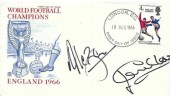 1966 England World Cup Winner,  Stuart FDC, London EC FDI, Signed by Jack Charlton & Allan Ball