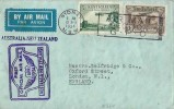 "1934 First Official Air Mail Flight cover Australia to New Zealand, then onto London via ""Faith in Australia"".Sydney NSW Air Mail Section GPO Slogan"