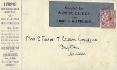 1923 Lympne Motor Glider Meeting Cover, Carried by Motor Glider from Lympne to Hastingsleigh, Hastingsleigh cds