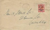 1922 Irish Provincial Government Cover,George V Overprinted 2d Sg 33 tied Cork Machine Cancel used to Londonderry