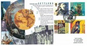 1999 Settlers' Tale, Steven Scott Series No.29 official FDC, The Pilgrim Fathers Barbican Plymouth H/S